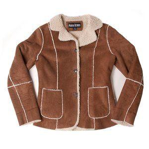 Marvin Richards Vintage Light Brown Sherpa Jacket